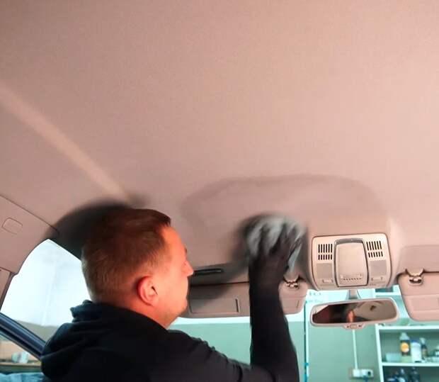 Как я отмыл обивку потолка автомобиля своими руками до идеального состояния за 30 минут, и всем советую