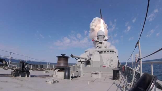 МРК «Вышний Волочёк» выполнил стрельбу из комплекса «Калибр» на учениях в Чёрном море