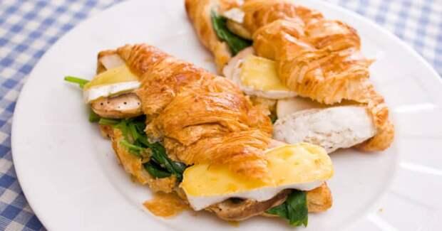 Французский круассан с курицей и грибами. Идеальная выпечка с похрустывающим тестом и ароматной начинкой 2
