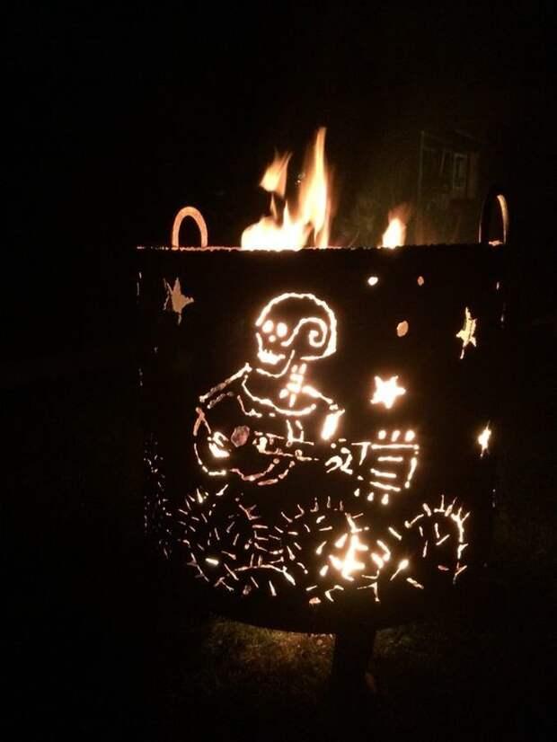 Огненные сферы и чаши для огня из металла - это прекрасное украшение сада и дачного участка, это положительные эмоции и радость общения! искусство, камины, красота, огонь, улица, чаша