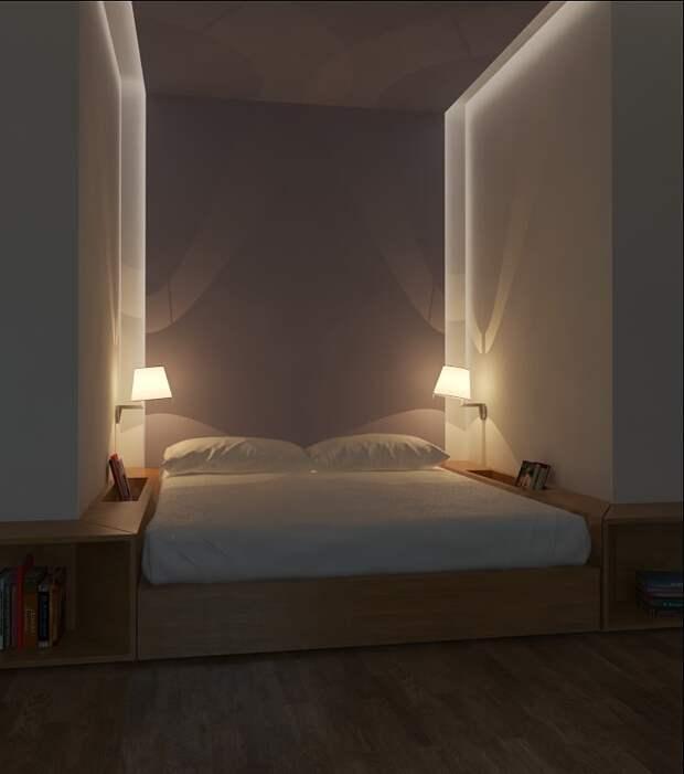 Кровать в нише: разумная экономия места в условиях дачи или малогабаритки
