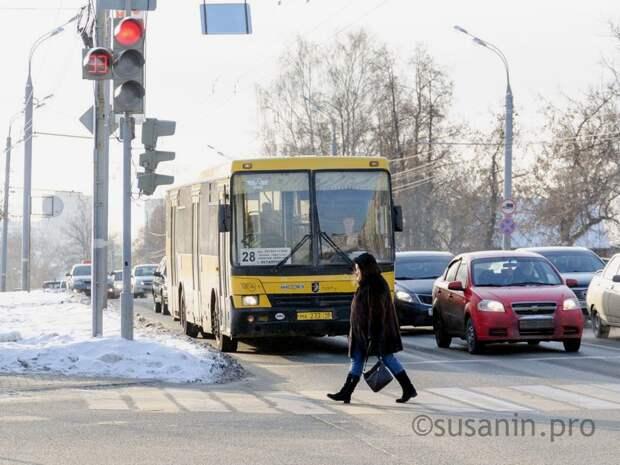 В Ижевске автобус и маршрутка попали в ДТП
