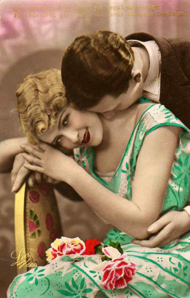 Французские открытки, в которых показано, как романтично целовались в 1920-е годы 5