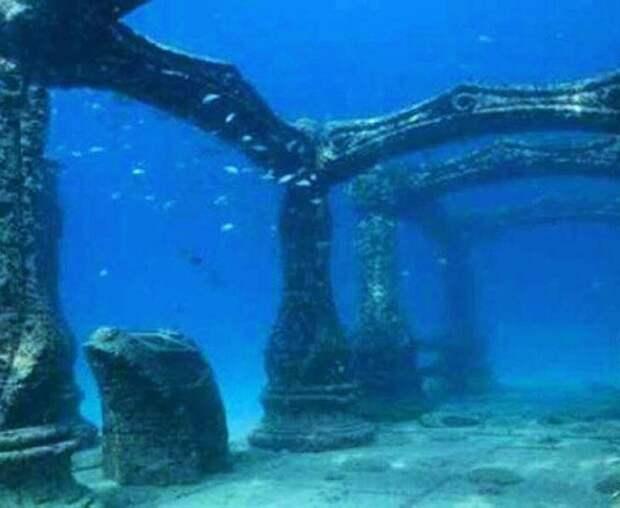 Затонувшие руины древних городов