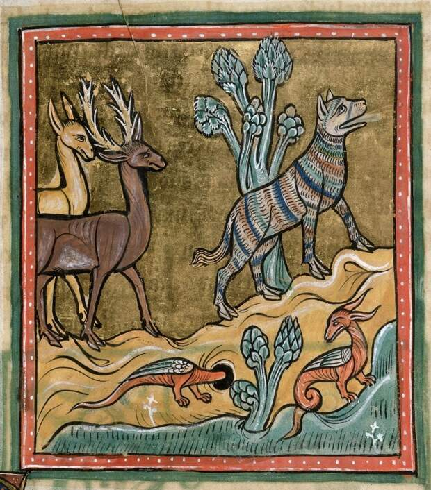 Рочестерский бестиарий. Британская библиотека