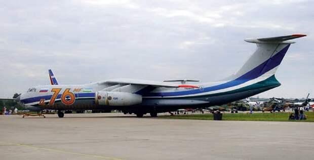 гражданский самолет, самолет ил-76мф, двигатели пс-90