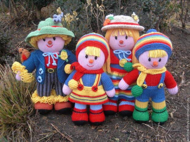 Куклы интерьерные, куклы игровые. Вязаные куклы Семья, Мягкие игрушки, Липецк,  Фото №1