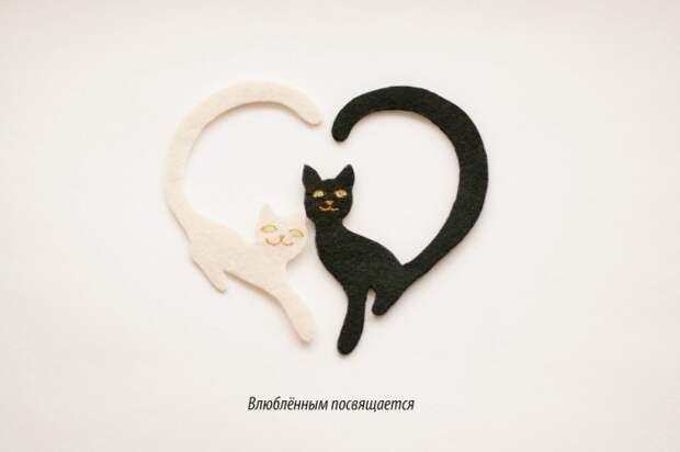 Коты-сердечки