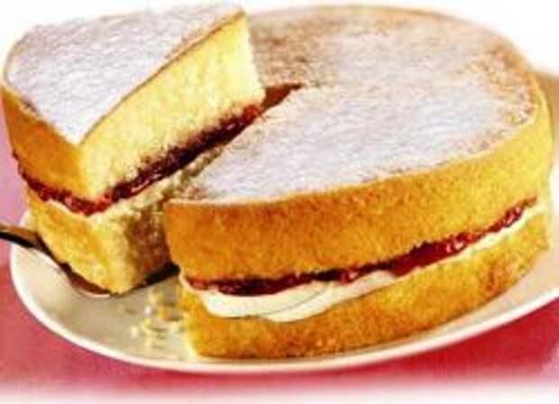 как испечь бисквит на лимонаде