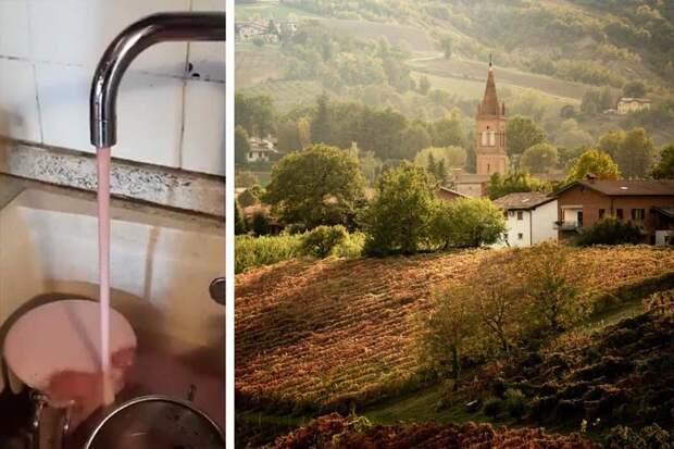 Почему в Италии из кранов вместо воды потекло вино