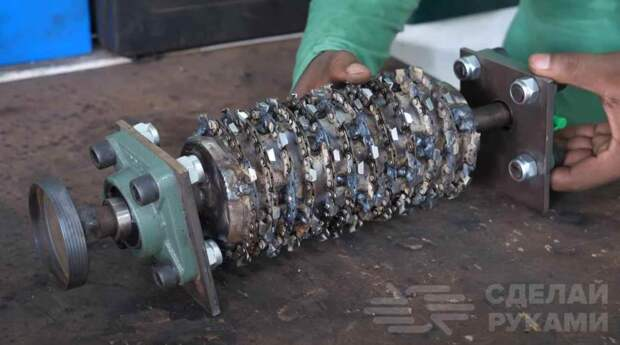 Как сделать измельчитель веток из бензопилы