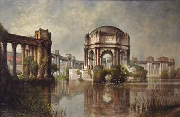 "Edwin Deakin (American, b. England, 1838–1923), ""Palace of Fine Arts and the Lagoon."
