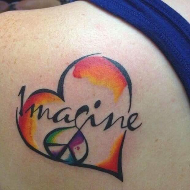Акварельные татуировки - тенденция 2016-го...