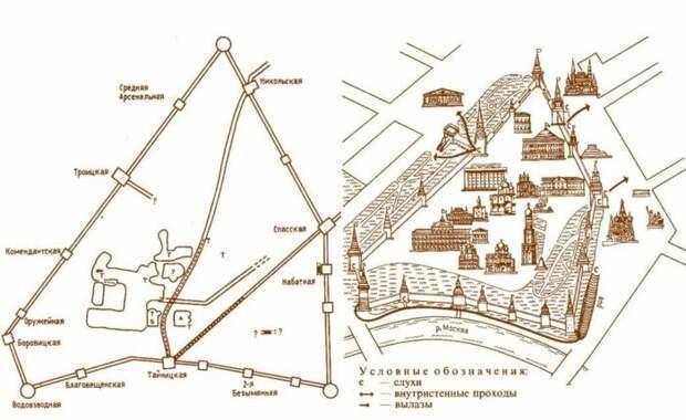 План подземной библиотеки Ивана Грозного / Фото: moskva-x.ru