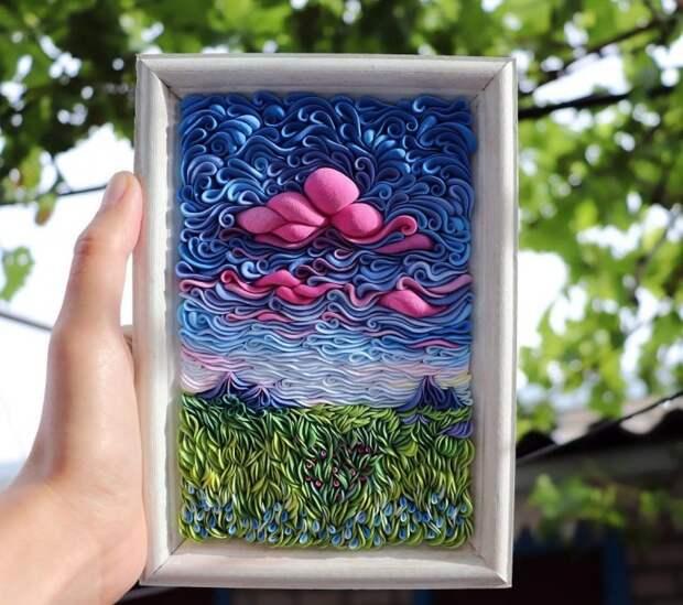 Пейзажи, выполненные из полимерной глины: идеи для подражания