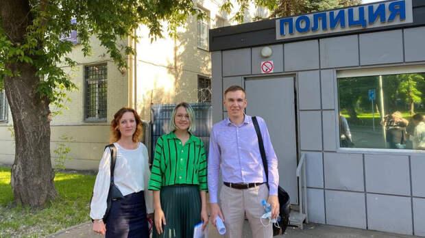 Журналистку, снимавшую акцию Крисевича, отпустили после задержания