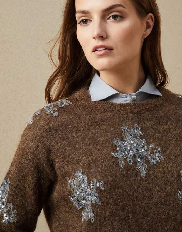 брунелло кушинели свитер с кружевом