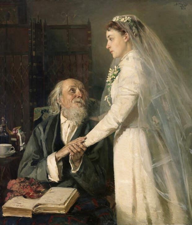 В.Е. Маковский, «К венцу». / Фото: www.yandex.net