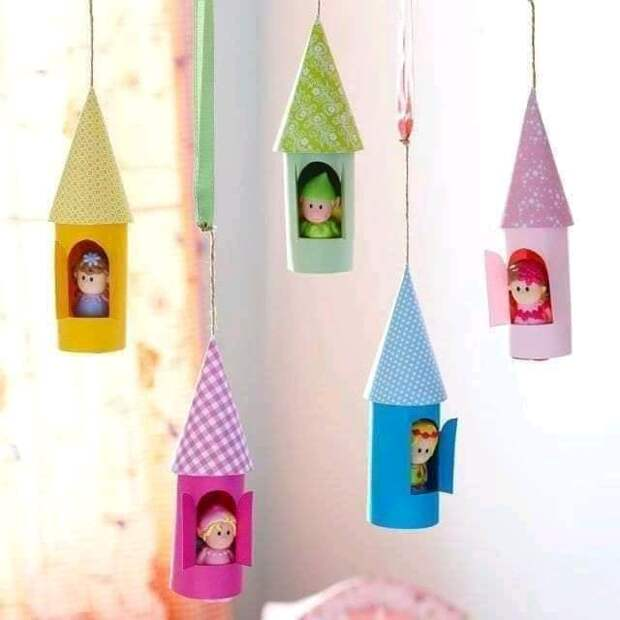 Детское творчество из картонных втулок