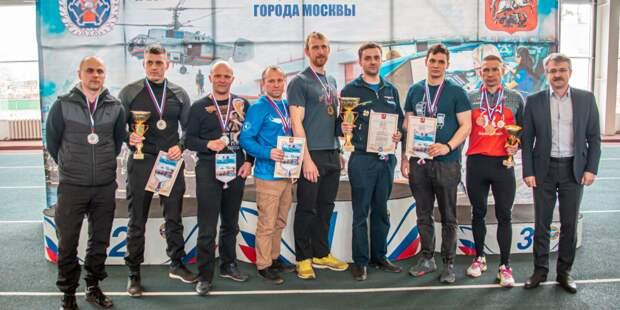 В Москве провели соревнования по спортивному троеборью среди спасателей и пожарных