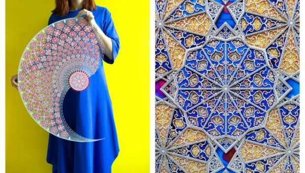 Кружевное чудо: арабская художница создает утонченные бумажные аппликации, от которых невозможно отвести глаз