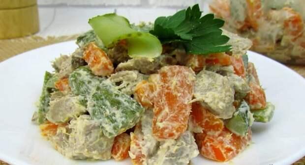 Для салата «Обжорка» использую всего 4 ингредиента! Необычайно вкусный салат из простых продуктов