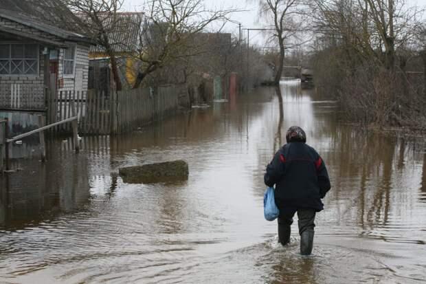 Женщину с ребёнком эвакуировали из садов из-за подтопления дороги в Балахнинском округе