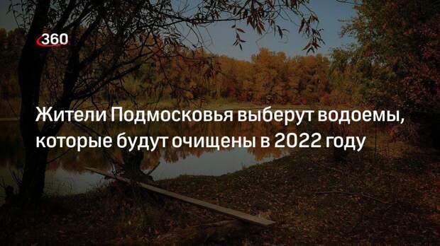 Жители Подмосковья выберут водоемы, которые будут очищены в 2022 году