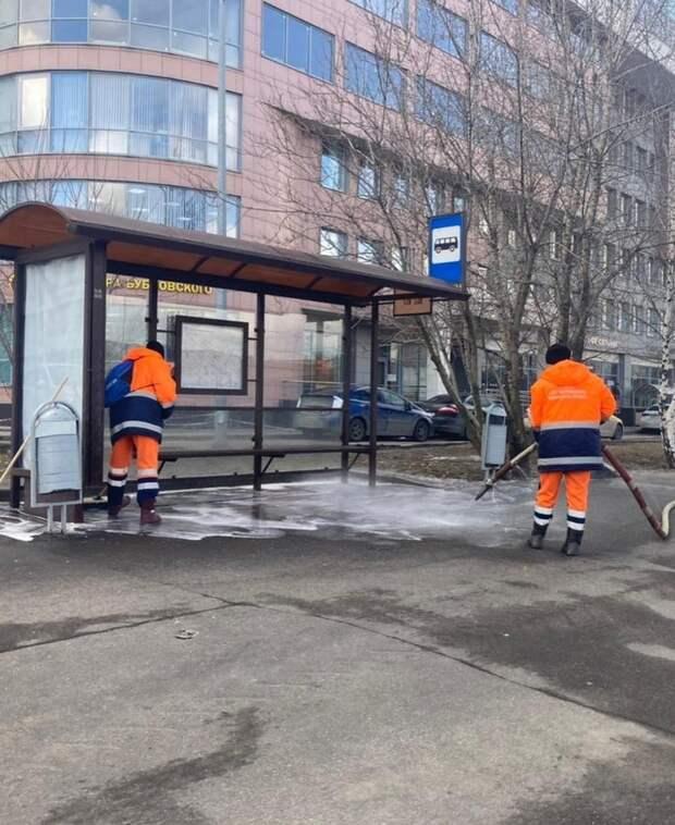 Фото дня: улицы Марьиной рощи отмыли после зимы
