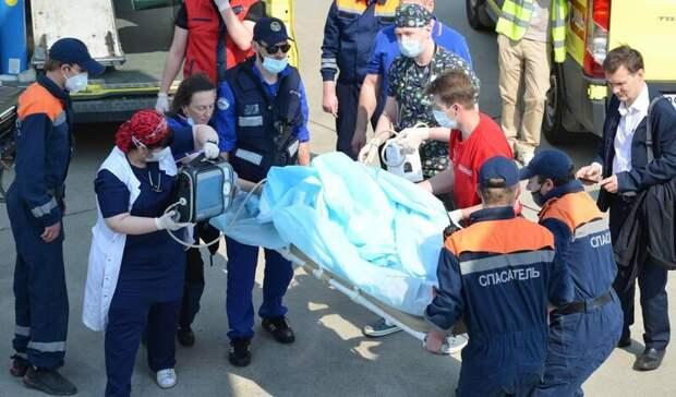 Пострадавшие при стрельбе вКазани прибыли вМоскву