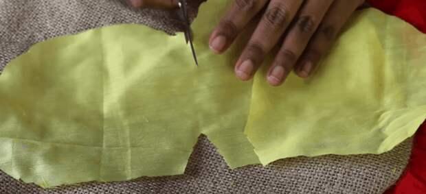 Оригинальное применение остатков ткани