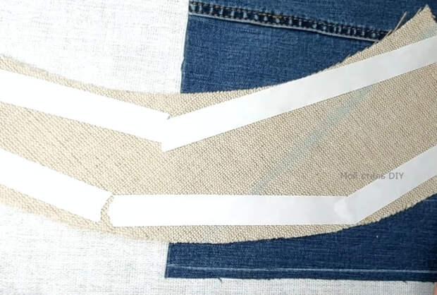 Правильное использования штанины от старых джинсов: вместительная сумка+ крутая аппликация