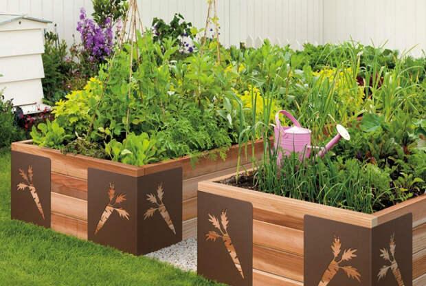 Красивые деревянные ящики.