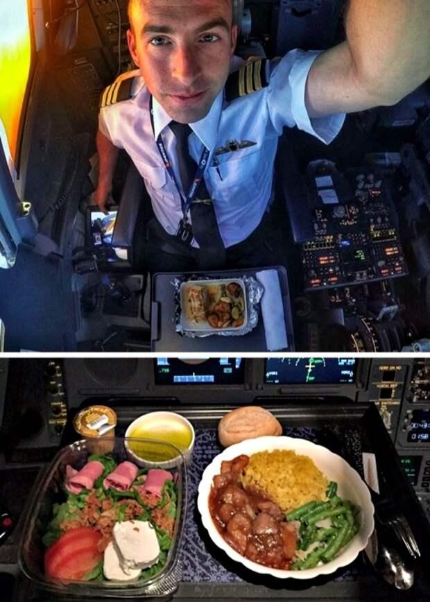 Пилоты нередко обедают в самолете, но и этот процесс подчинен определенным правилам. /Фото: antonivtours.com