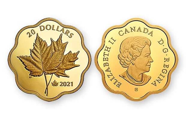 Канада выпустила монету из серебра с культовыми кленовыми листьями