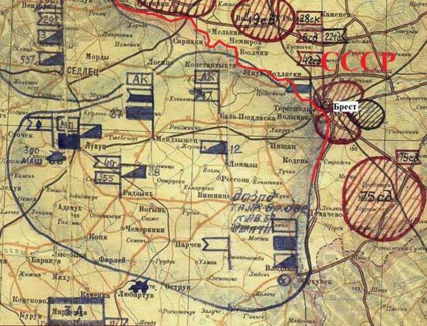 Конечная точка маршрута 16-й армии