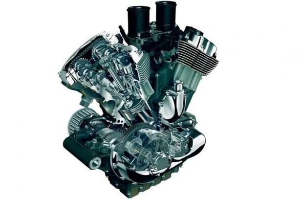 Двигатель V-Rod в разрезе: хорошо видно четырехклапанные головки harley-davidson, авто, байк, мото, мотоцикл, мотоциклы, мотоциклы Harley-Davidson
