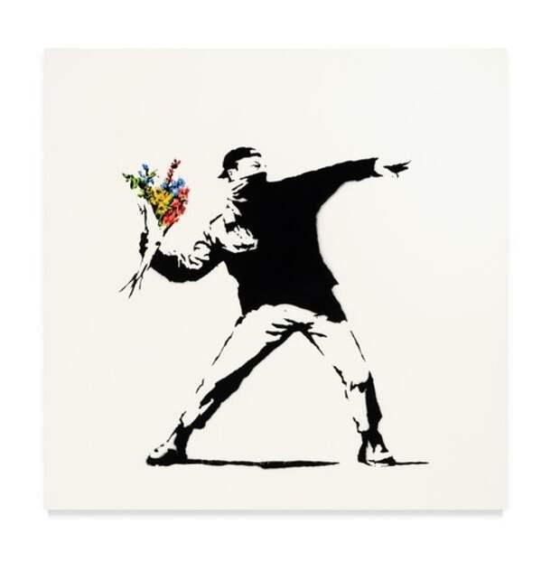 Картина Бэнкси «Любовь в воздухе» ушла с молотка за почти 13 млн долларов  – в три раза дороже начальной цены