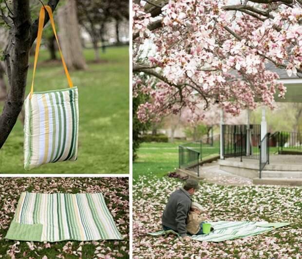 Подстилка для пикника или душевой занавески.
