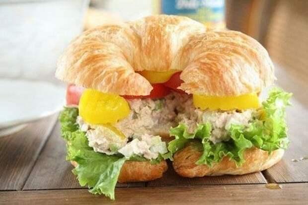 Невероятно вкусные и сытные бутерброды с тунцом.