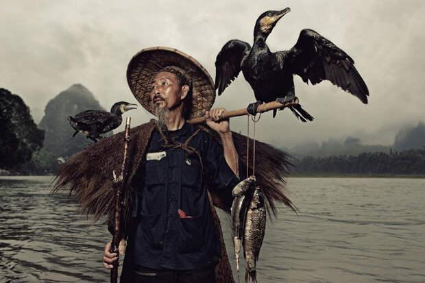 Традиционная китайская рыбалка сбакланами