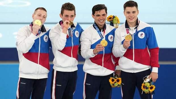Россия выиграла олимпийское золото в мужской и женской командной гимнастике