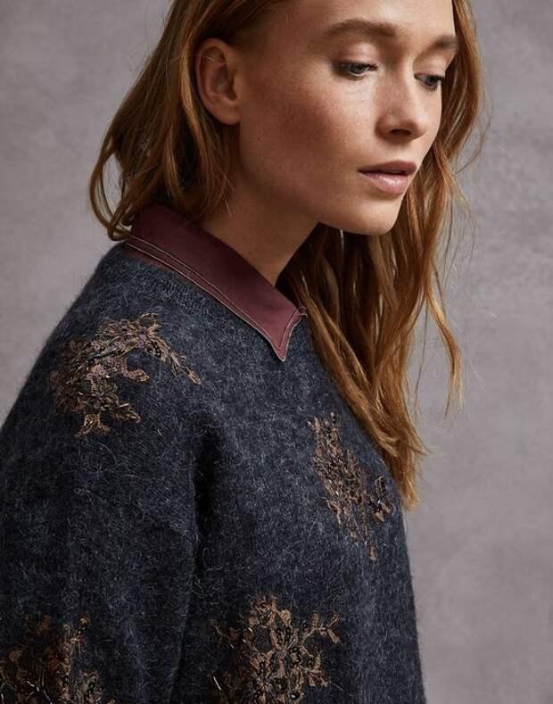 брунелло кучинели свитер с кружевом
