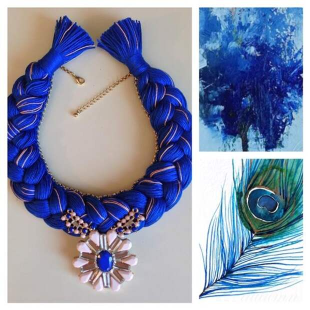 Ожерелья с косами - необычная идея