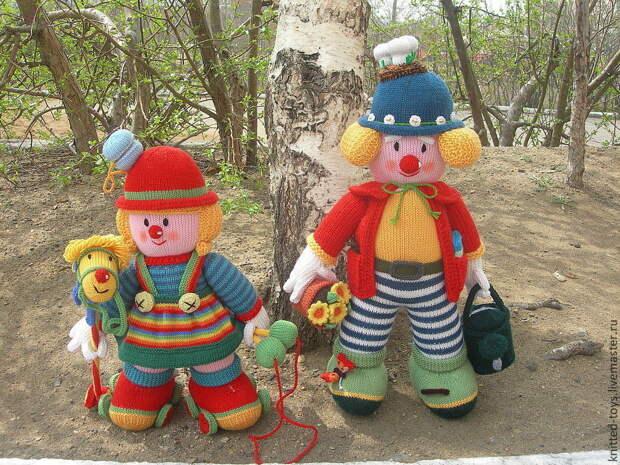 Вязаные интерьерные куклы Клоуны, Мягкие игрушки, Липецк,  Фото №1