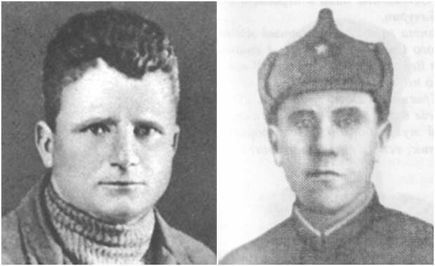 Слева - лоцман Андрей Андреев, справа - сапер Василий Бачурин