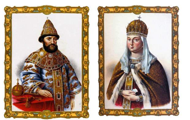 Михаил Романов и Евдокия Стрешнева