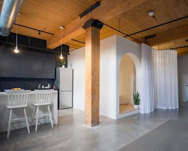 Лофт-квартира в Торонто дизайн интерьера, интерьер, квартиры, лофт