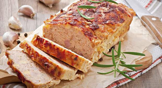 Мясной хлеб из фарша индейки — вместо колбасы. Просто и вкусно!