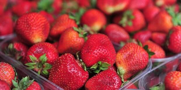 В Ферганском начали продавать клубнику и землянику от российских фермеров